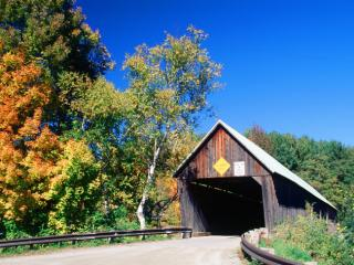 Obrazek: Lincoln Covered Bridge, West Woodstock, Vermont