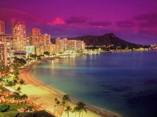 Obrazek: Waikiki at Dusk, Hawaii