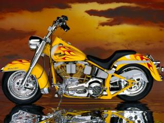 Obrazek: 90s Custom Chrome Big Twin Softail
