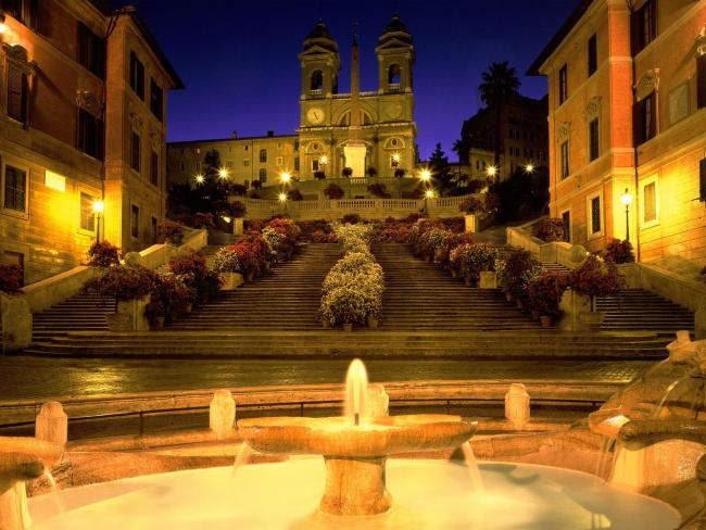 Trinita dei Monti Church, Spanish Steps, Rome, Italy